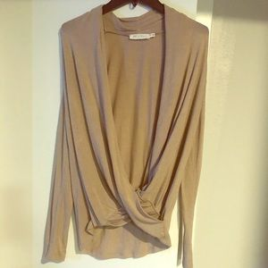 Tan Wrap Sweater (Great Condition)